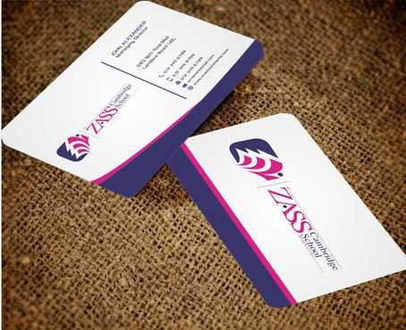 St. ZASS Cambridge School Business Cards and Stationery  Draft # 189 by Dawson