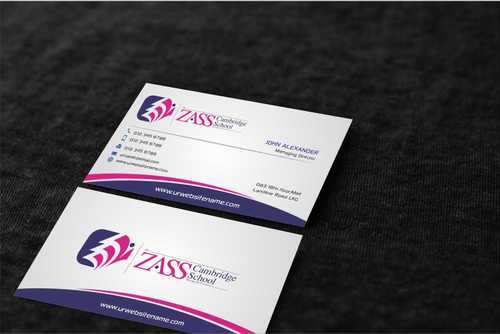 St. ZASS Cambridge School Business Cards and Stationery  Draft # 190 by Dawson