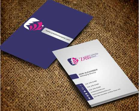 St. ZASS Cambridge School Business Cards and Stationery  Draft # 191 by Dawson
