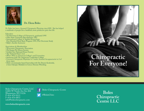 Boles Chiropractic Centre LLC Marketing collateral  Draft # 10 by barinix