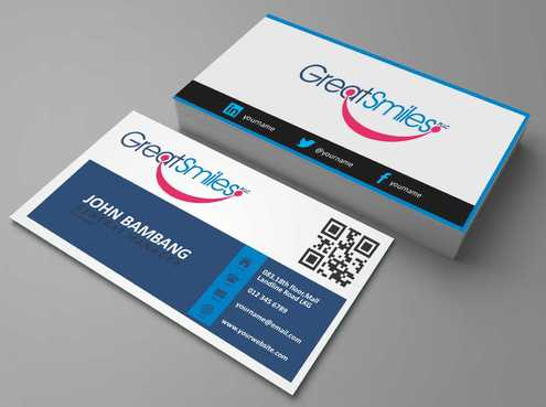 Great Smiles, PLLC Business Cards and Stationery  Draft # 117 by DesignBlast