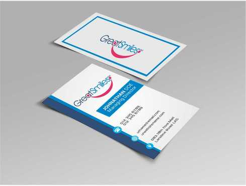 Great Smiles, PLLC Business Cards and Stationery  Draft # 120 by DesignBlast