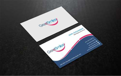 Great Smiles, PLLC Business Cards and Stationery  Draft # 180 by Dawson