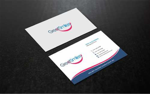 Great Smiles, PLLC Business Cards and Stationery  Draft # 181 by Dawson