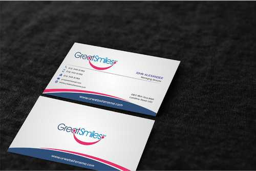 Great Smiles, PLLC Business Cards and Stationery  Draft # 184 by Dawson