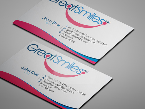 Great Smiles, PLLC Business Cards and Stationery  Draft # 226 by zetka