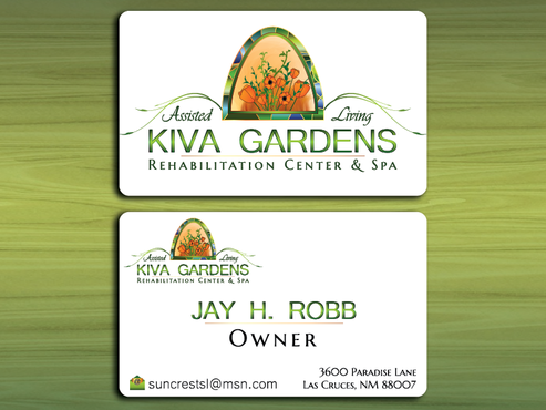 Logo for a rehabilitation center and assisted living Business Cards and Stationery Winning Design by cOOOkie