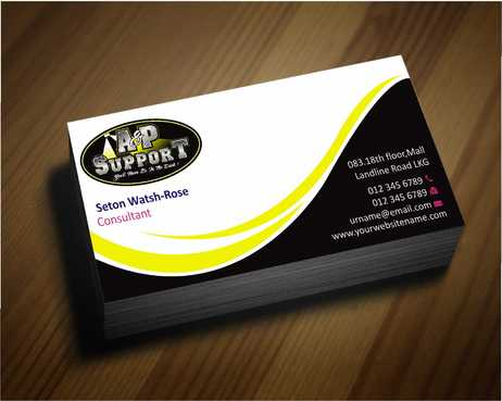 A&P Support Business Cards and Stationery  Draft # 163 by Dawson