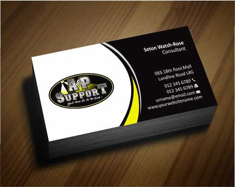 A&P Support Business Cards and Stationery  Draft # 164 by Dawson
