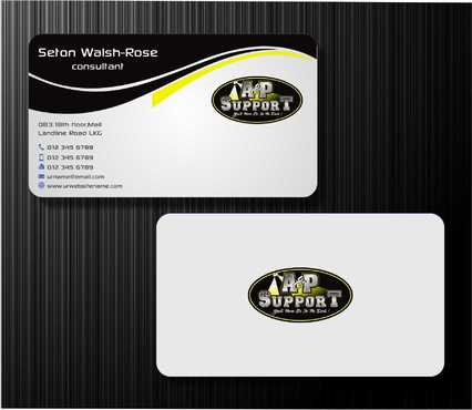 A&P Support Business Cards and Stationery  Draft # 177 by Dawson