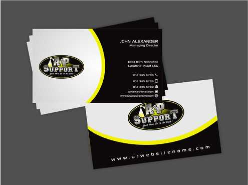 A&P Support Business Cards and Stationery  Draft # 181 by Dawson