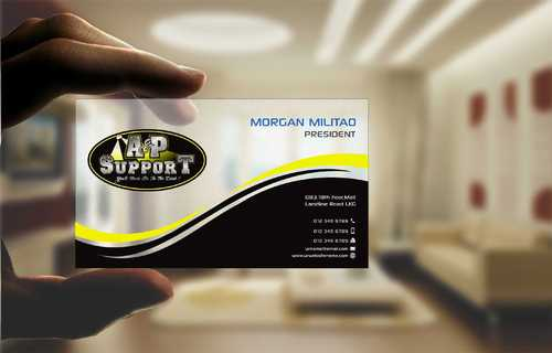 A&P Support Business Cards and Stationery  Draft # 186 by Dawson