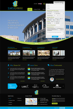 Simplicondo, Inc Complete Web Design Solution  Draft # 279 by jogdesigner