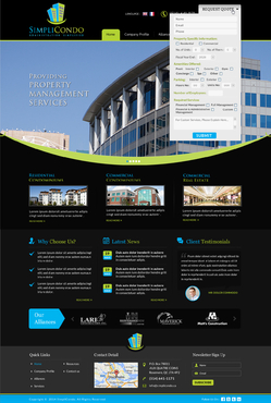 Simplicondo, Inc Complete Web Design Solution  Draft # 310 by jogdesigner