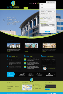 Simplicondo, Inc Complete Web Design Solution  Draft # 314 by jogdesigner