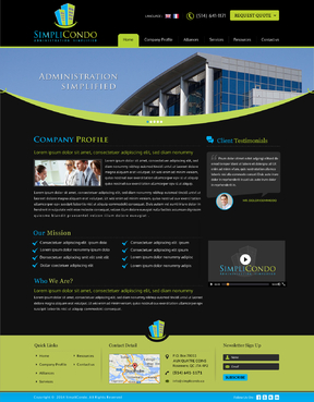 Simplicondo, Inc Complete Web Design Solution  Draft # 316 by jogdesigner