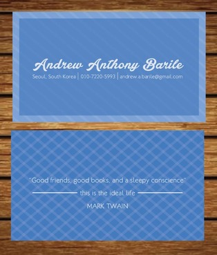 Andrew Anthony Barile Business Cards and Stationery  Draft # 1 by chiclops