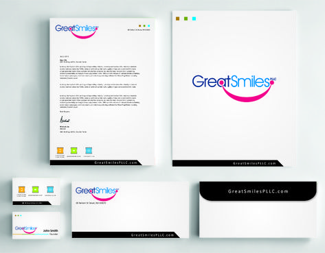 Great Smiles, PLLC Business Cards and Stationery  Draft # 234 by DesignBlast