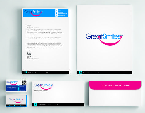 Great Smiles, PLLC Business Cards and Stationery  Draft # 235 by DesignBlast