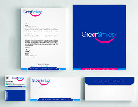 Great Smiles, PLLC Business Cards and Stationery  Draft # 237 by DesignBlast