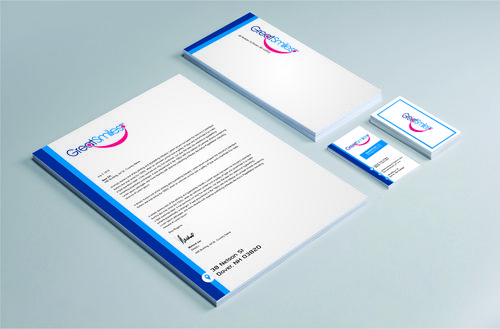 Great Smiles, PLLC Business Cards and Stationery  Draft # 238 by DesignBlast