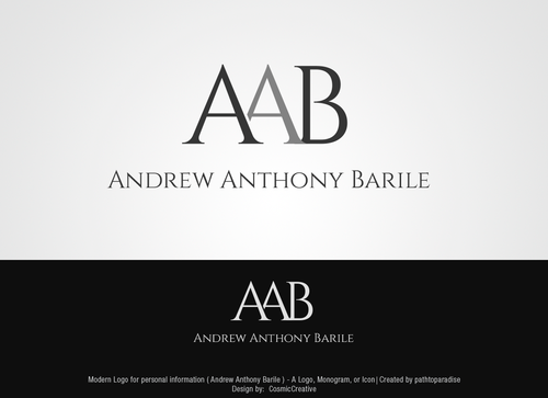 Andrew Anthony Barile Business Cards and Stationery  Draft # 2 by CosmicCreative