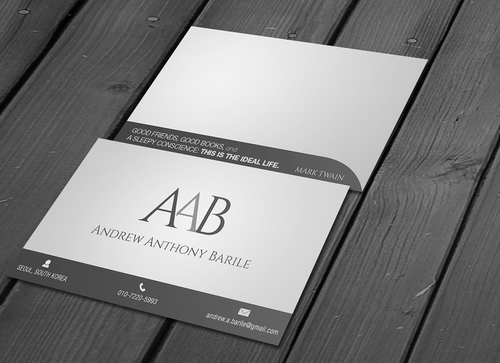 Andrew Anthony Barile Business Cards and Stationery  Draft # 3 by CosmicCreative