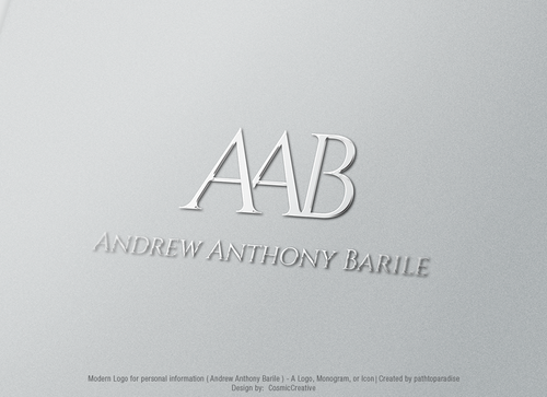 Andrew Anthony Barile Business Cards and Stationery Winning Design by CosmicCreative