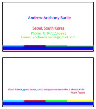 Andrew Anthony Barile Business Cards and Stationery  Draft # 5 by deepak3071