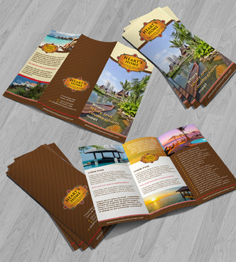 Heart's Home Vacation Rentals Marketing collateral Winning Design by Achiver