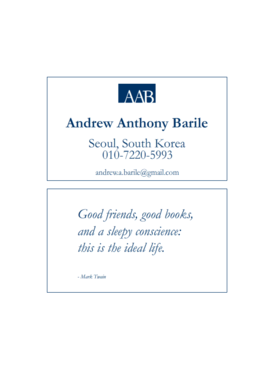Andrew Anthony Barile Business Cards and Stationery  Draft # 6 by saifomar