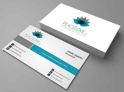 Peace Love LLC  Business Cards and Stationery  Draft # 163 by DesignBlast