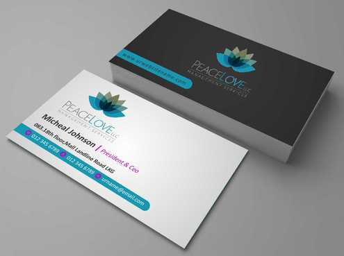Peace Love LLC  Business Cards and Stationery  Draft # 170 by DesignBlast