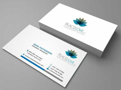 Peace Love LLC  Business Cards and Stationery  Draft # 172 by DesignBlast