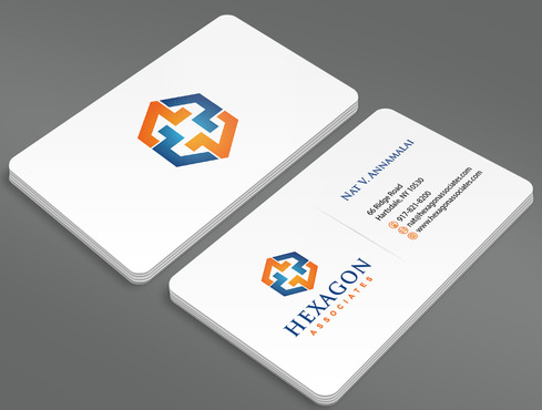 Hexagon Associates Business Cards and Stationery  Draft # 1 by ArtworksKingdom