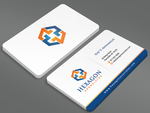 Hexagon Associates Business Cards and Stationery  Draft # 5 by ArtworksKingdom