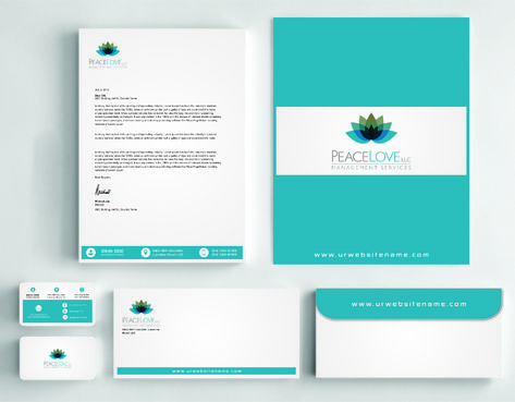 Peace Love LLC  Business Cards and Stationery  Draft # 176 by DesignBlast