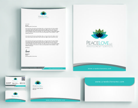 Peace Love LLC  Business Cards and Stationery  Draft # 177 by DesignBlast