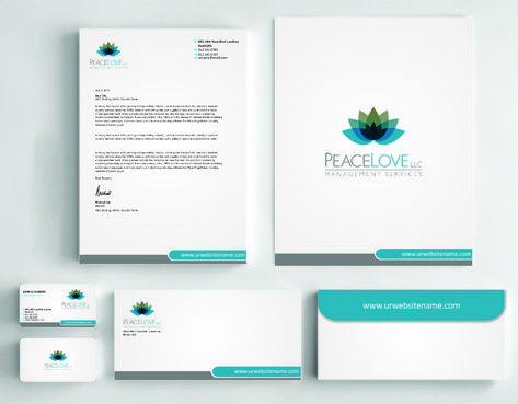 Peace Love LLC  Business Cards and Stationery  Draft # 178 by DesignBlast