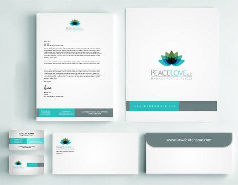Peace Love LLC  Business Cards and Stationery  Draft # 181 by DesignBlast