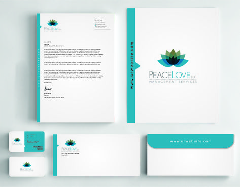 Peace Love LLC  Business Cards and Stationery  Draft # 182 by DesignBlast