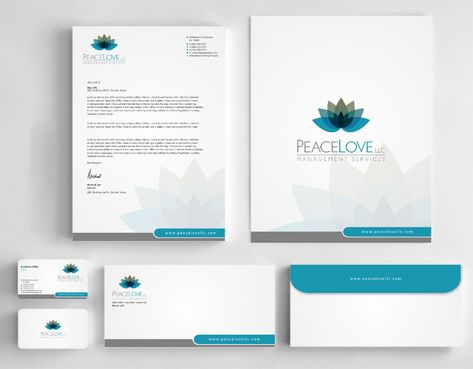 Peace Love LLC  Business Cards and Stationery  Draft # 184 by DesignBlast