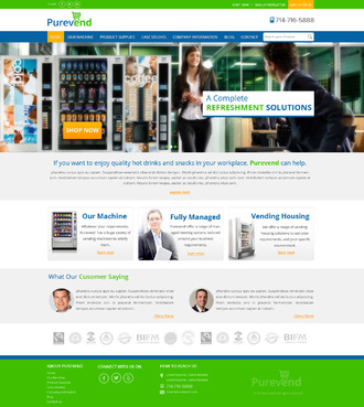 "Purevend ""healthy vending machines"" Complete Web Design Solution  Draft # 20 by suryaparkash"