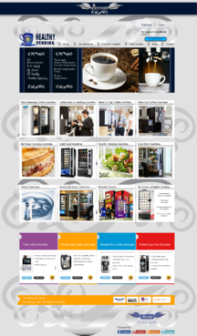 "Purevend ""healthy vending machines"" Complete Web Design Solution  Draft # 21 by Pavel"