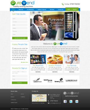 "Purevend ""healthy vending machines"" Complete Web Design Solution  Draft # 24 by 4bdesign"