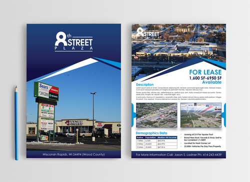 3 Page Flyer To Showcase Market A Commercial Property By