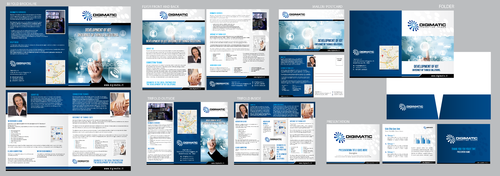 Brochure and marketing collateral for an internet service company
