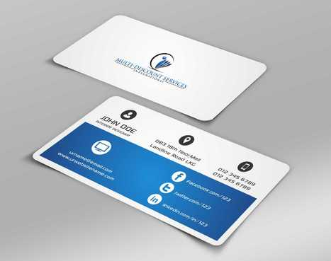 Multi-Discount Services International Business Cards and Stationery  Draft # 114 by DesignBlast