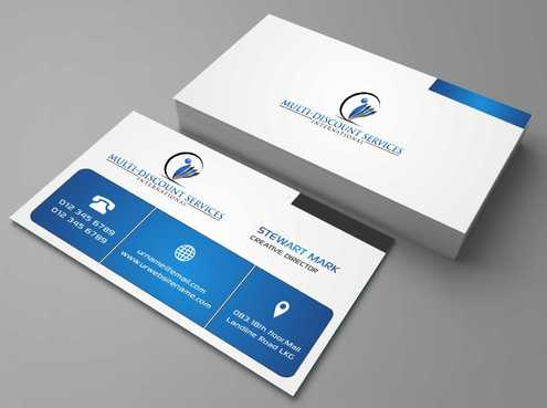 Multi-Discount Services International Business Cards and Stationery  Draft # 115 by DesignBlast