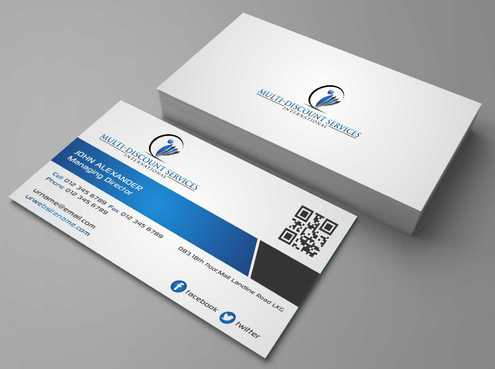 Multi-Discount Services International Business Cards and Stationery  Draft # 122 by DesignBlast
